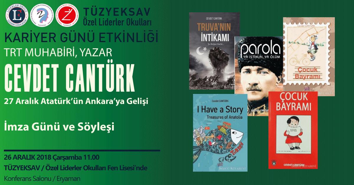 TRT Muhabiri, Yazar Cevdet CANTÜRK Öğrencilerimizle Buluşuyor…