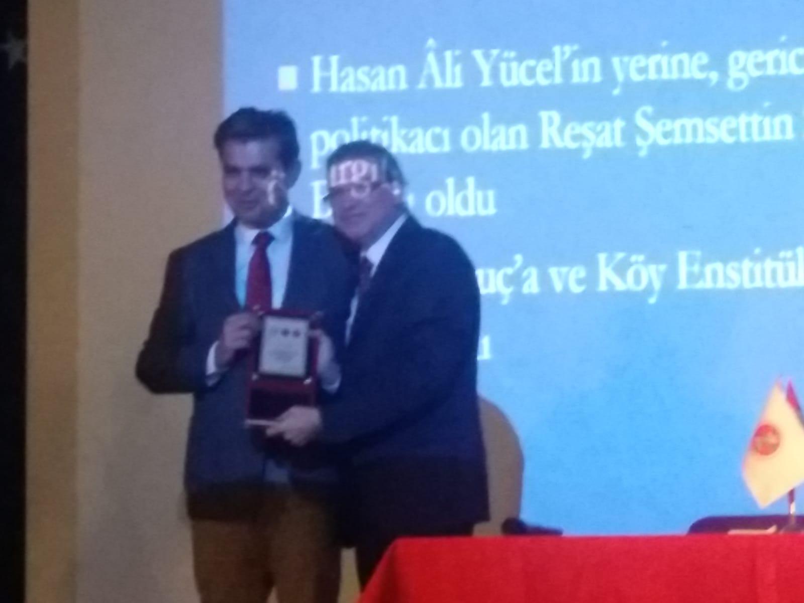 Köy Enstitüleri ve Çağdaş Eğitim Vakıf Başkanı Erdal ATICI Okulumuzda
