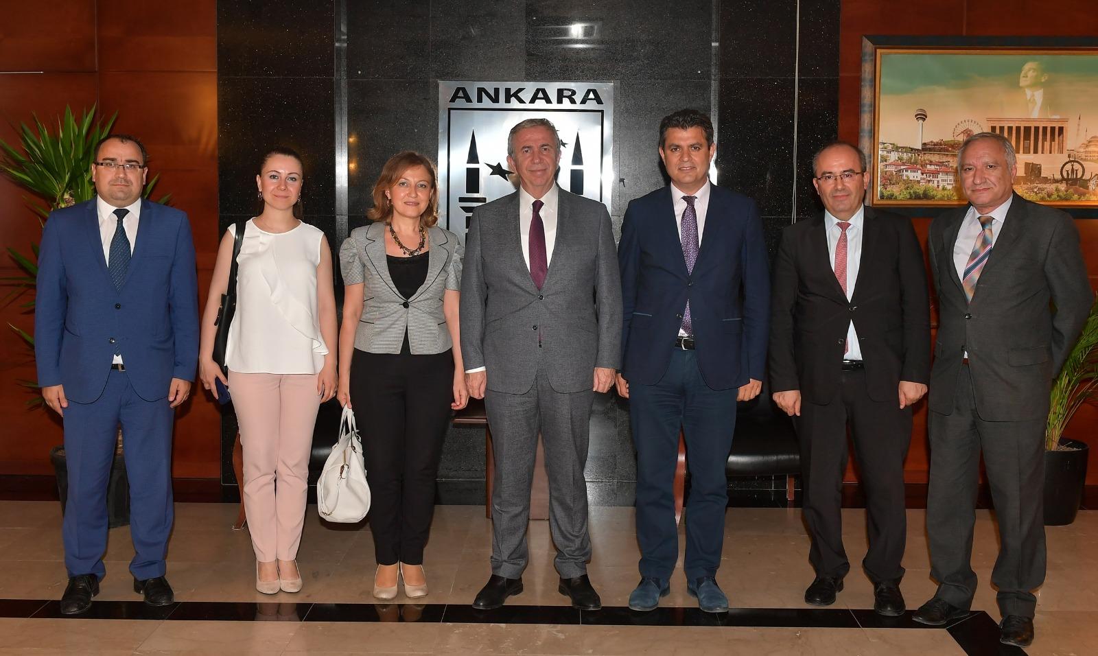 Ankara Büyükşehir Belediye Başkanı Mansur YAVAŞ'ı Ziyaret